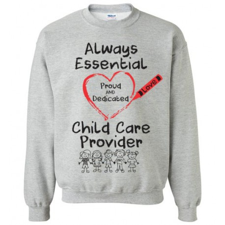 Crayon Heart With Kids Big Black Font Sweatshirt