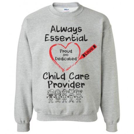Crayon Heart With Kids Big Black Font Sweatshirt