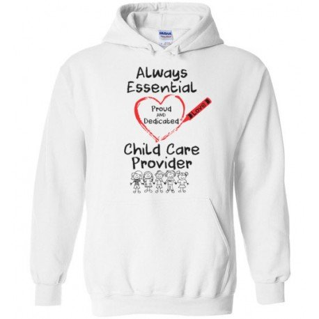 Crayon Heart With Kids Big Black Font Hoodie
