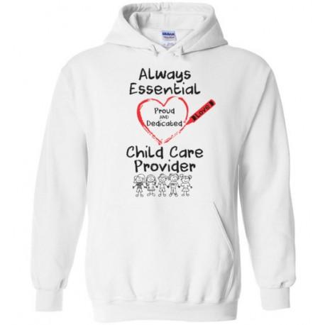 Crayon Heart With Kids Big Black Font Hoodie