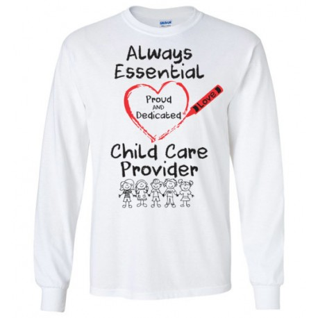 Crayon Heart With Kids Big Black Font Long-Sleeved Shirt