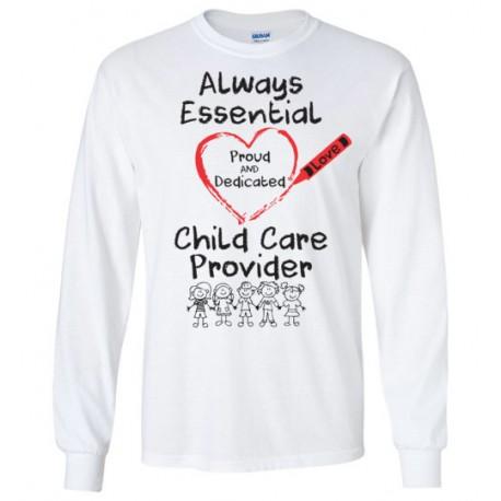 Crayon Heart With Kids Big Black Font Long-Sleeved Shirt