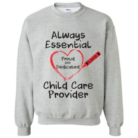 Crayon Heart Big Black Font Sweatshirt