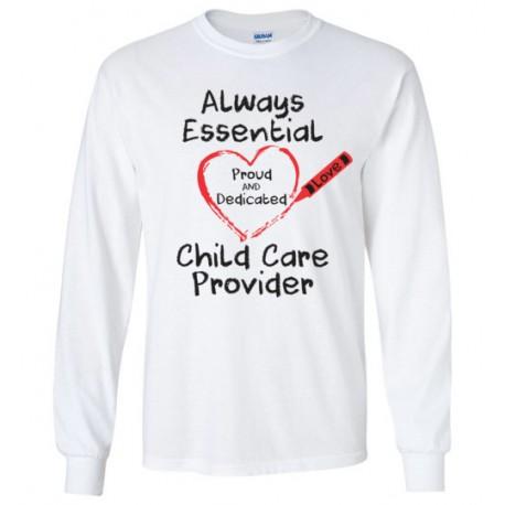 Crayon Heart Big Black Font Long-Sleeved Shirt