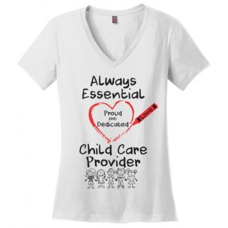 Crayon Heart with Kids Big Black Font Women's V-Neck