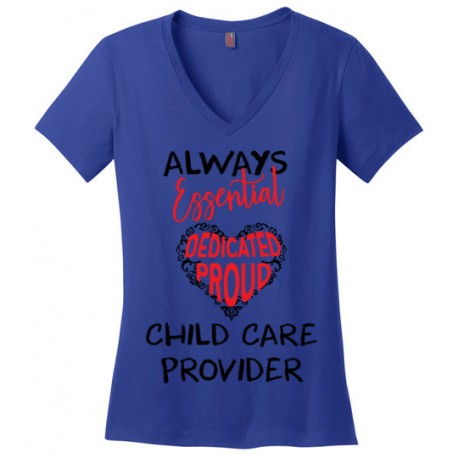 Word Heart Red and Black font Women's V-Neck