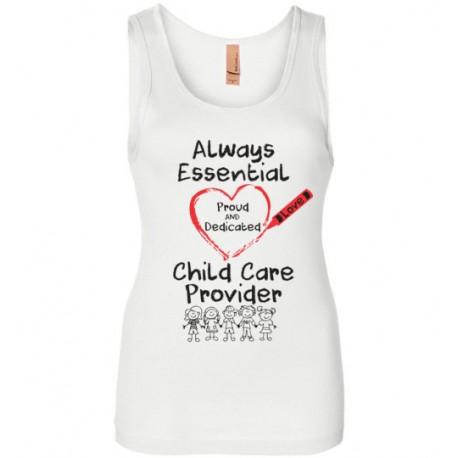 Crayon Heart with Kids Big Black Font Women's Tank