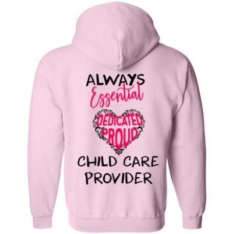 *Logo on Back* Words in Pink Heart Black font Zip-up Hoodie