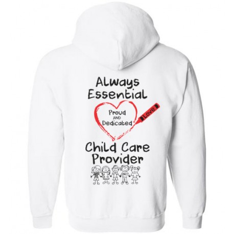 *Logo on Back* Crayon Heart with Kids Big Black Font Zip-up Hoodie