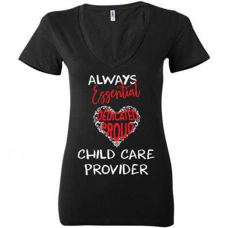Word Heart Red and White font Women's Deep V-Neck