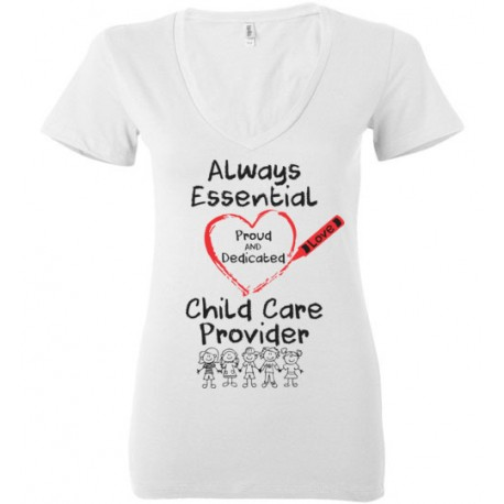 Crayon Heart with Kids Big Black Font Women's Deep V-Neck
