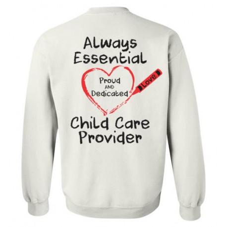 *Logo on Back* Crayon Heart Big Black Font Sweatshirt