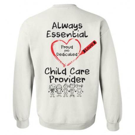 *Logo on Back* Crayon Heart with Kids Big Black Font Sweatshirt