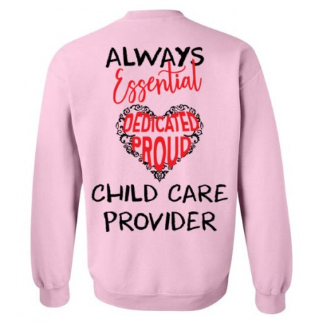 *Logo on Back* Word Heart Red and Black font Sweatshirt