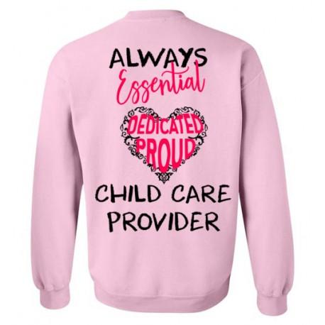 *Logo on Back* Words in Pink Heart Black font Sweatshirt