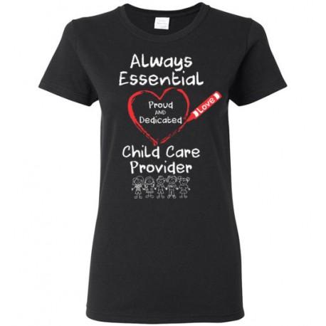Crayon Heart with Kids Big White Font Women's T-Shirt