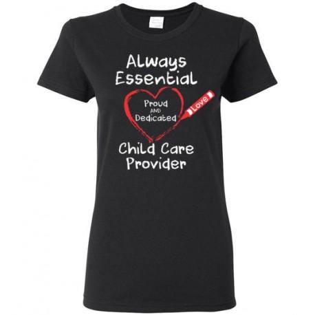 Crayon Heart Big White Font Women's T-Shirt
