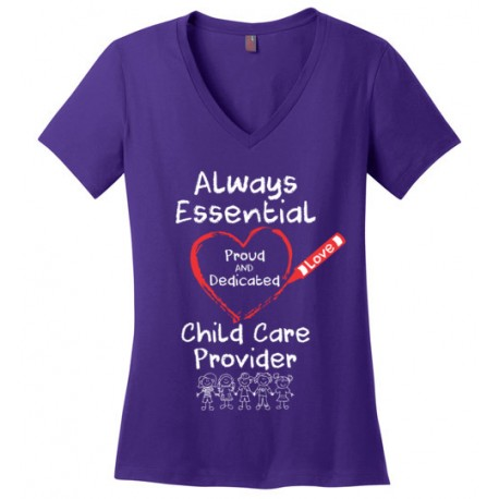 Crayon Heart with Kids Big White Font Women's V-Neck