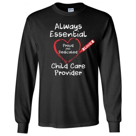 Crayon Heart Big White Font Long-Sleeved Shirt