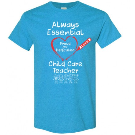 Crayon Heart with Kids Big White Font Child Care Teacher Men's T-Shirt