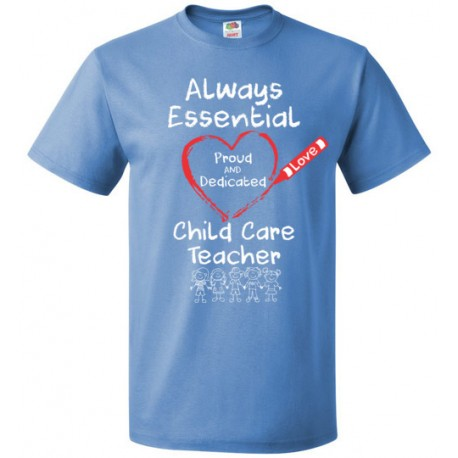 Crayon Heart with Kids Big White Font Child Care Teacher Unisex T-Shirt