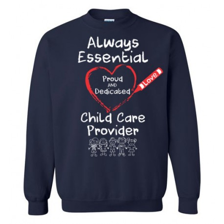 Crayon Heart with Kids Big White Font Sweatshirt