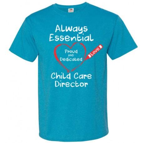 Crayon Heart Big White Font Director Unisex T-Shirt