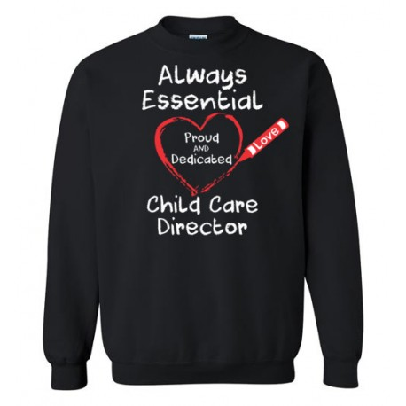 Crayon Heart Big White Font Director Sweatshirt