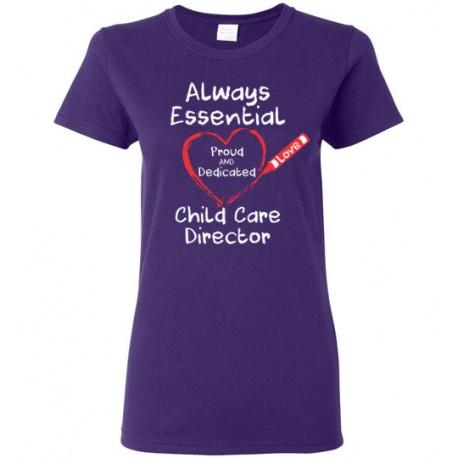 Crayon Heart Big White Font Director Women's T-Shirt