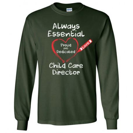 Crayon Heart Big White Font Director Unisex Long-Sleeved Shirt