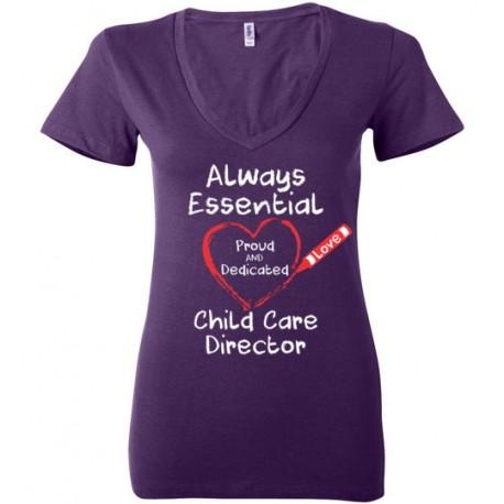 Crayon Heart Big White Font Director Women's Deep V-Neck T-Shirt
