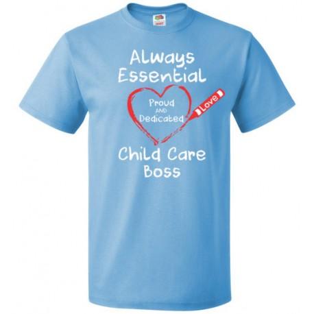 Crayon Heart Big White Font Boss Unisex T-Shirt