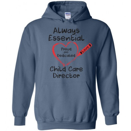 Crayon Heart Big Black Font Director Hoodie