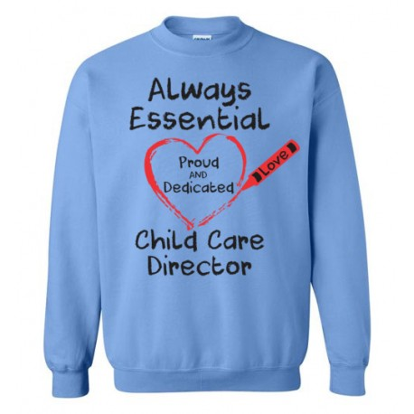 Crayon Heart Big Black Font Director Sweatshirt