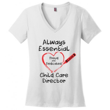 Crayon Heart Big Black Font Director Women's V-Neck T-Shirt