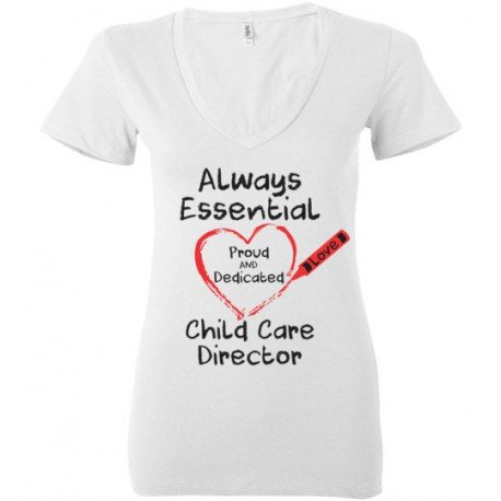 Crayon Heart Big Black Font Director Deep V-Neck