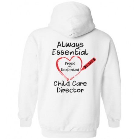 *Logo on Back* Crayon Heart Big Black Font Director Hoodie