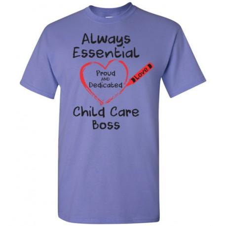 Crayon Heart Big Black Font Boss Men's T-Shirt