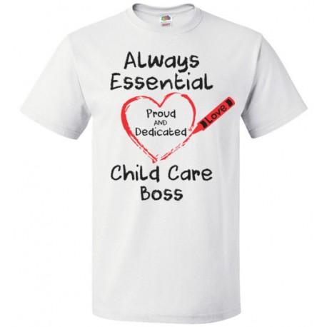 Crayon Heart Big Black Font Boss Unisex T-Shirt
