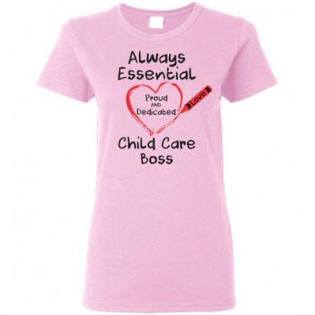Crayon Heart Big Black Font Boss Women's T-Shirt