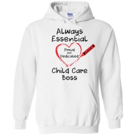Crayon Heart Big Black Font Boss Hoodie