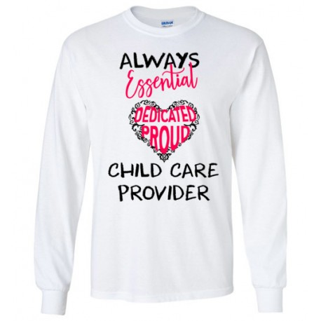 Words in Pink Heart Black font Long-sleeved shirt
