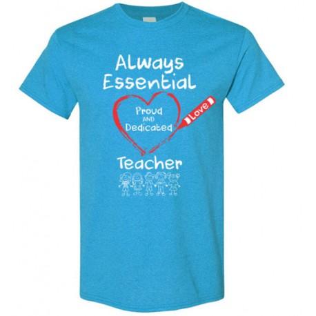Crayon Heart with Kids Big White Font Teacher Men's T-Shirt