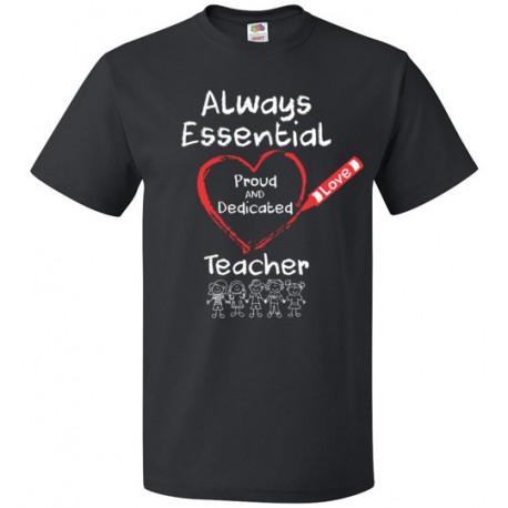 Crayon Heart with Kids Big White Font Teacher Unisex T-Shirt