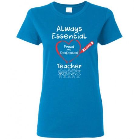Crayon Heart with Kids Big White Font Teacher Women's T-Shirt