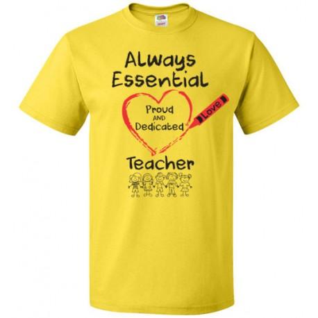 Crayon Heart with Kids Big Black Font Teacher Unisex T-Shirt