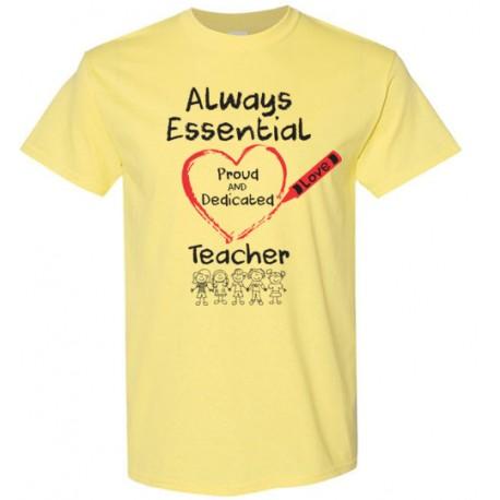 Crayon Heart with Kids Big Black Font Teacher Men's T-Shirt