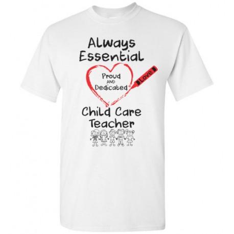 Crayon Heart with Kids Big Black Font Child Care Teacher Men's T-Shirt