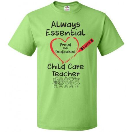 Crayon Heart with Kids Big Black Font Child Care Teacher Unisex T-Shirt