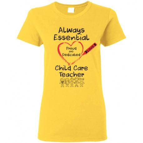 Crayon Heart with Kids Big Black Font Child Care Teacher Women's T-Shirt